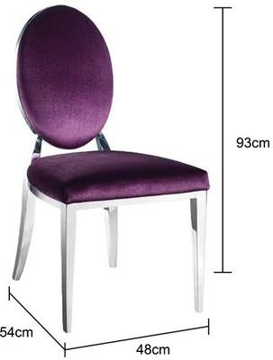Purple Silver Leaf Dining Chair image 2