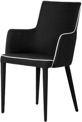 Black and White Upholstered Dining Chair