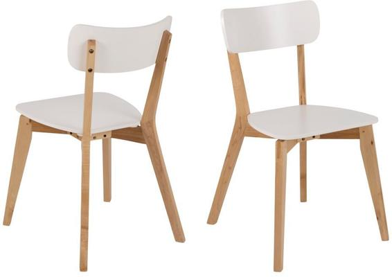 Raven Dining Chair in Birch with White Seat