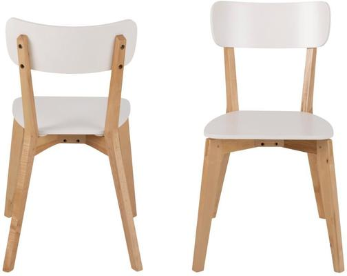 Raven Dining Chair in Birch with White Seat image 2