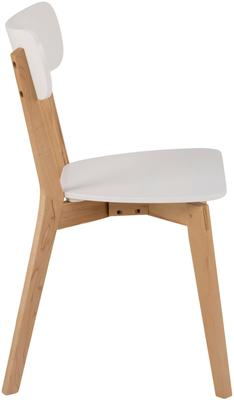 Raven Dining Chair in Birch with White Seat image 3