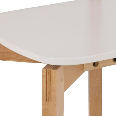 Raven Dining Chair in Birch with White Seat image 4