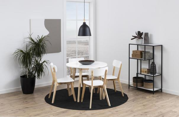 Raven Dining Chair in Birch with White Seat image 5