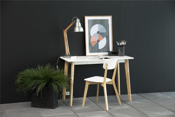 Raven Dining Chair in Birch with White Seat image 6