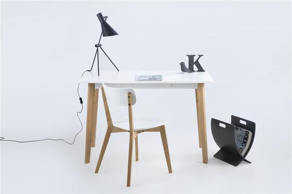 Raven Dining Chair in Birch with White Seat image 7