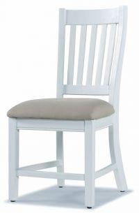 French Country Dining Chair White Painted Pine