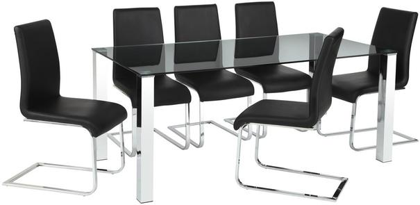 Maddox Swing Chair Faux Leather and Chrome image 3