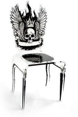 Acrylic Dining Chairs with Bizarre Images image 2