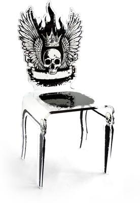 Acrylic Dining Chairs with Bizarre Images image 7