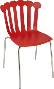 Esmeralda Quirky Modern Side Chair Stackable image 5