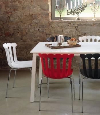 Esmeralda Quirky Modern Side Chair Stackable