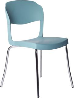 Evo Strass Chair Polypropylene with Steel Legs image 2