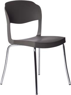 Evo Strass Chair Polypropylene with Steel Legs