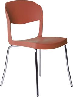 Evo Strass Chair Polypropylene with Steel Legs image 4