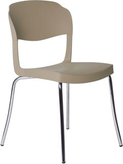 Evo Strass Chair Polypropylene with Steel Legs image 5