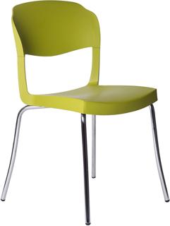 Evo Strass Chair Polypropylene with Steel Legs image 6