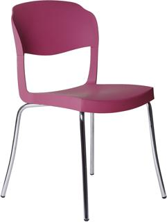 Evo Strass Chair Polypropylene with Steel Legs image 7