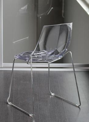 Diamante Chair - Chrome Frame and clear acrylic seat image 2