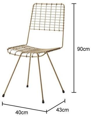Wire Mesh Dining Chair Scandinavian image 3