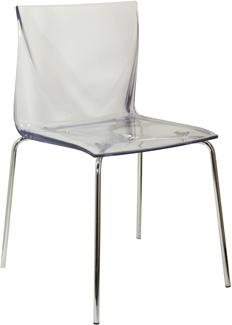 Mind Kitchen and Dining Chair - Chrome Frame and Clear Seat image 2
