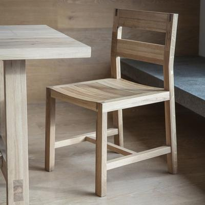 2 x Kielder Simple Oak Wood Dining Chair image 2
