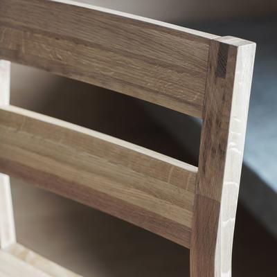 2 x Kielder Simple Oak Wood Dining Chair image 5
