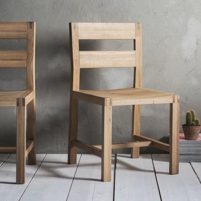 2 x Kielder Simple Oak Wood Dining Chair image 6