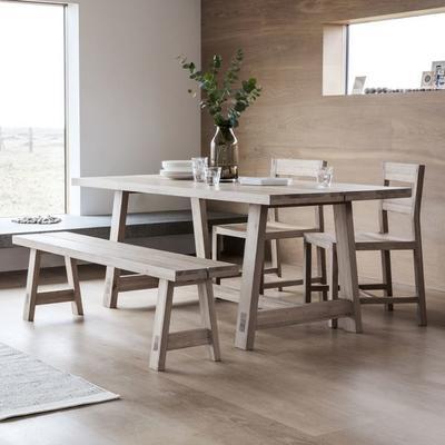 2 x Kielder Simple Oak Wood Dining Chair image 7