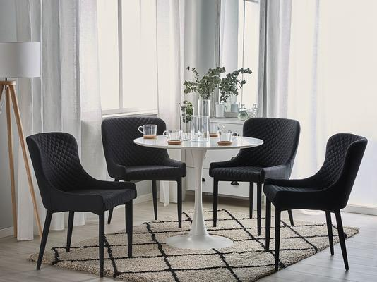 SOLANO Dining Chair in Black, Blue or Grey image 2