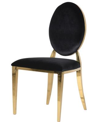 Oval Back Dining Chair Velvet