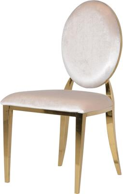 Oval Back Dining Chair Velvet image 3