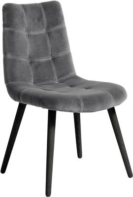 Velvet Button Dining Chair Grey image 2