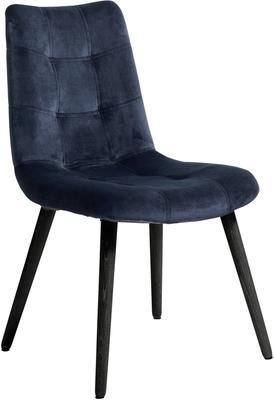 Velvet Button Dining Chair Grey image 3