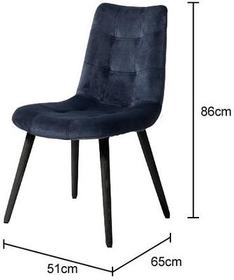 Velvet Button Dining Chair Grey image 4