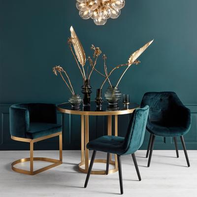 Velvet Button Dining Chair Grey image 5