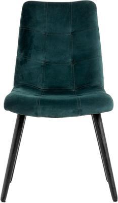 Velvet Button Dining Chair Grey image 6