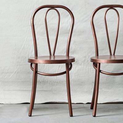 Retro Metal Dining Chair Brass
