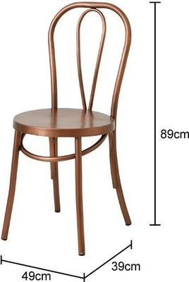 Retro Metal Dining Chair Brass image 2