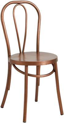 Retro Metal Dining Chair Brass image 3