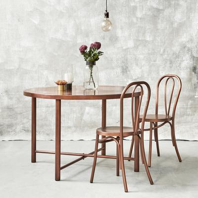 Retro Metal Dining Chair Brass image 4