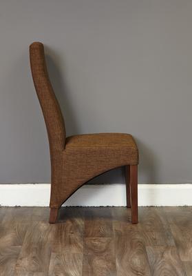 Shiro Walnut Upholstered Dining Chair Hazelnut Fabric image 3