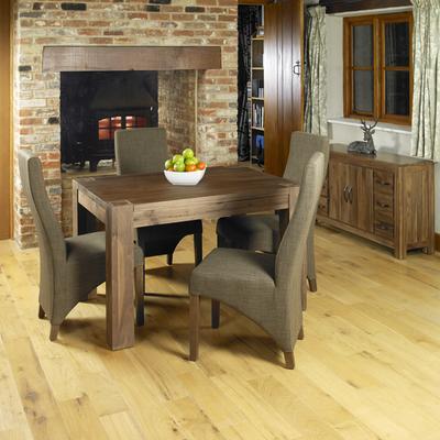 Shiro Walnut Upholstered Dining Chair Hazelnut Fabric image 5