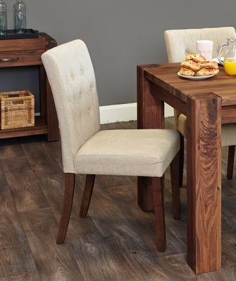Shiro Walnut Flare Back Dining Chair - set of 2