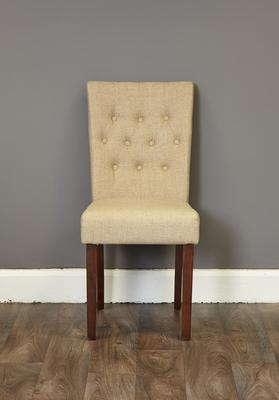 Shiro Walnut Flare Back Dining Chair - set of 2 image 2