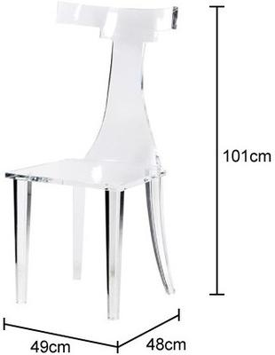 T-Back Acrylic Dining Chair image 2