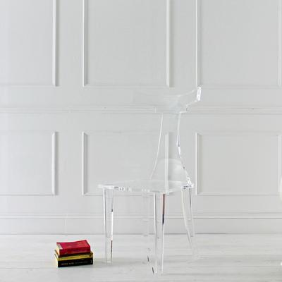 T-Back Acrylic Dining Chair image 3