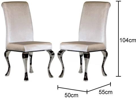 Pair of Pearl Velvet Dining Chairs image 2