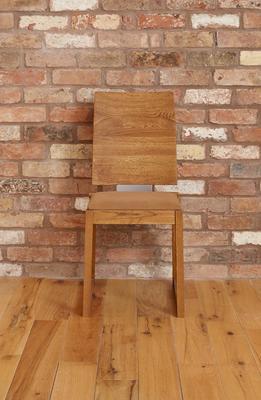 OLTEN Oiled Oak Modern Dining Chair - Mocha Fabric - Set Of 2 image 4