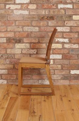 OLTEN Oiled Oak Modern Dining Chair - Mocha Fabric - Set Of 2 image 5