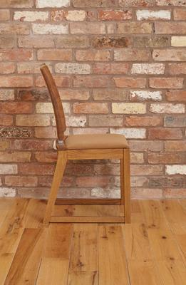 OLTEN Oiled Oak Modern Dining Chair - Mocha Fabric - Set Of 2 image 6